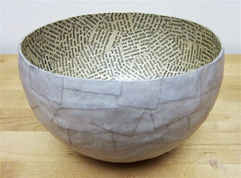 How To Make Paper Mache Bowls - 25 best ideas about paper mache bowls on