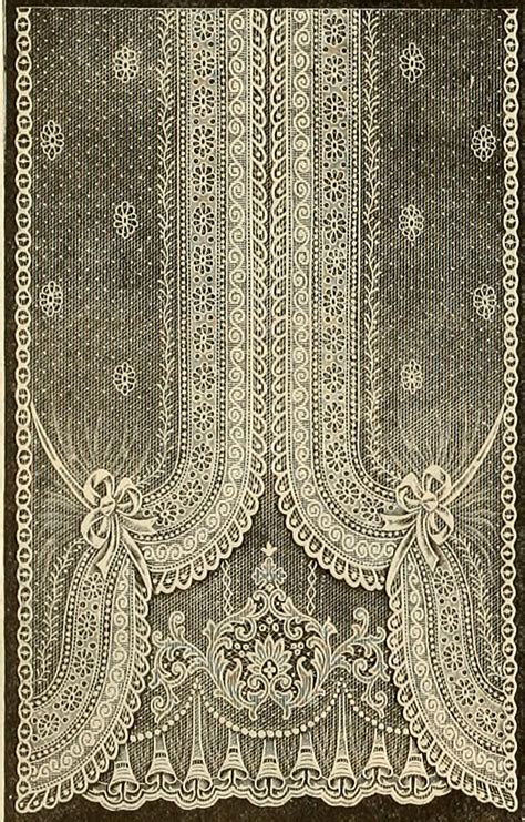 Vintage Lace Curtains Vintage Ephemera Nottingham Lace Curtain 1912