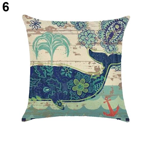 throw pillows on bed 18 inch sea shell whale turtle throw pillow case bed sofa
