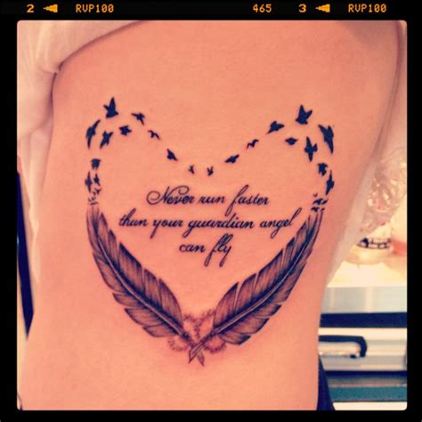 tattoo guardian angel quotes pretty feather and quote tattoo feather tattoo pinterest