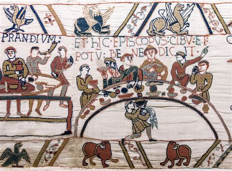 Tapisserie De Bayeux Description by File Bayeux Tapestry Scene43 Banquet Jpg Wikimedia Commons