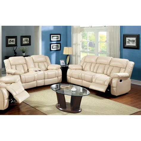 two piece couch set furniture of america carrell 2 piece leather reclining