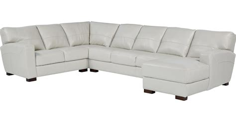 gennaro 5 pc leather sectional sofa leather sectionals sofa chaise reina point gray