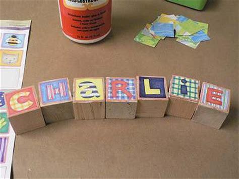 Handmade Baby Blocks - personalized baby blocks
