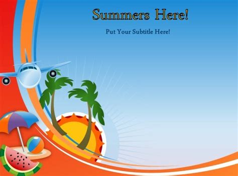 Animated Summer Template For Powerpoint Summer Powerpoint Templates