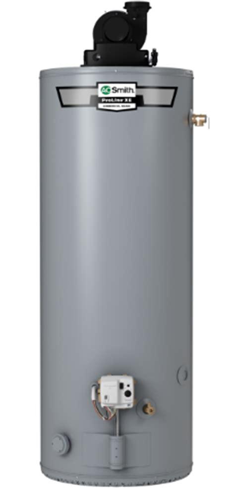 proline® xe power vent 40 gallon gas water heater