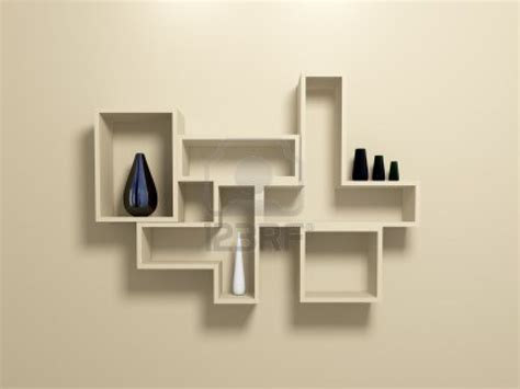 chic contemporary wall shelving office decor