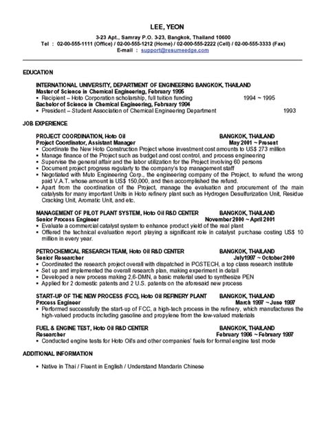 semiconductor process engineer resume 28 images cover