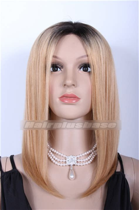 blonde bob long at front chinese virgin hair ombre blonde long bob lace front wigs