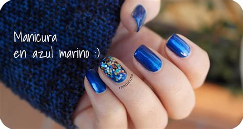 imagenes de uñas acrilicas azul marino manicute nail art blog manicura sencilla en azul oscuro