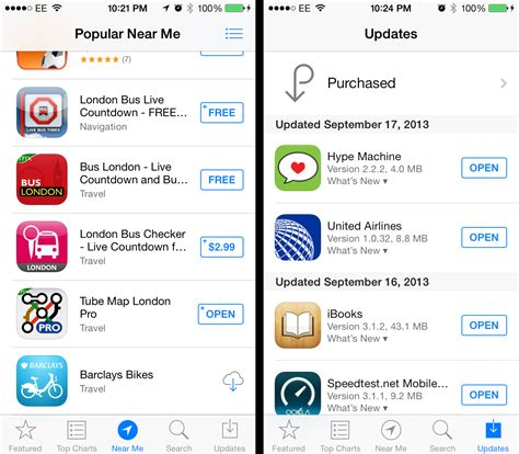 iphone app store apple ios 7 review a major makeover that delivers but takes some getting used to techcrunch