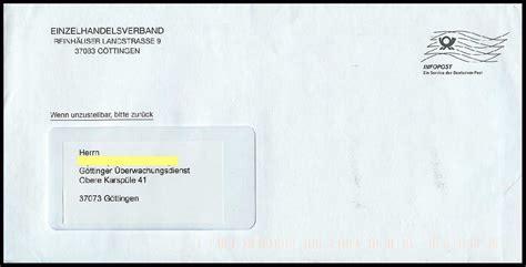 Beschriftung Brief Mit Fenster by Philaseiten De Moderne Postgeschichte Freimachung Dv