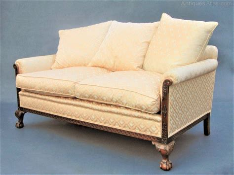 mahogany sofa antique mahogany ball claw sofa settee antiques atlas