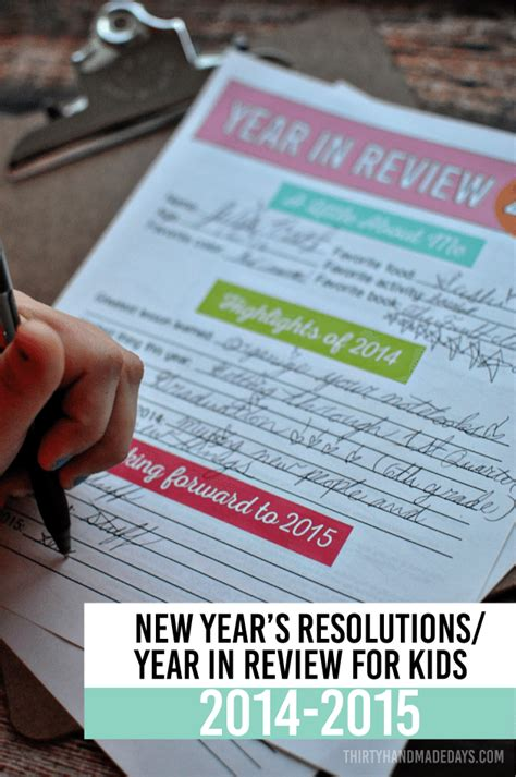 new year reviews printable new year s resolutions for 2015
