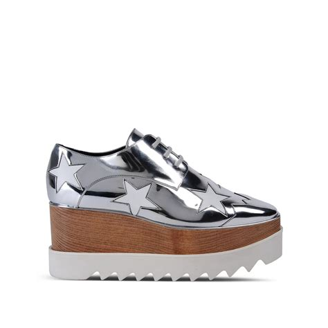 stella mccartney sneakers stella mccartney elyse indium shoes in silver indium