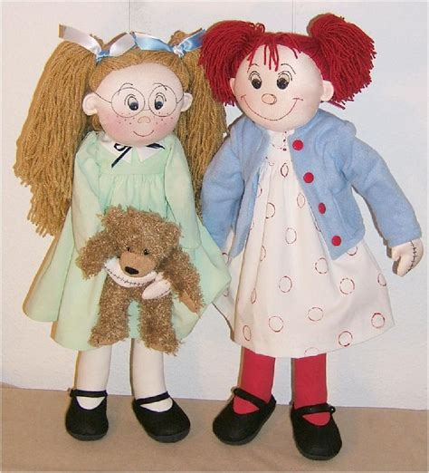 design rag doll cloth doll patterns by judi ward