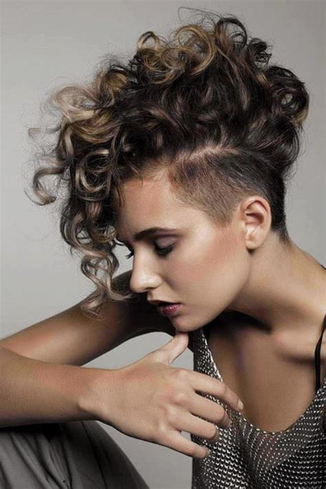 hairstyles for short hair mohawk curly mohawk hairstyles beautiful hairstyles