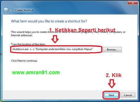 cara membuat virus windows trik dalam komputer