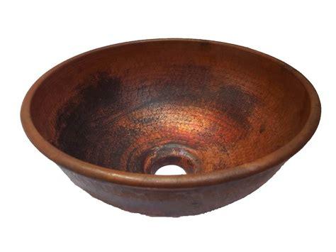 Handmade Copper Bowl - 2 vanity handmade hammered world copper bowl