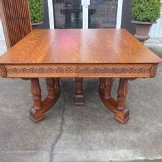 Dining Table For Sale Hastings Antiques By Design Signed Hastings Solid Tiger Oak Split