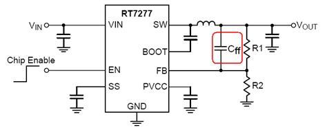 feedforward capacitor acot stability testing richtek technology