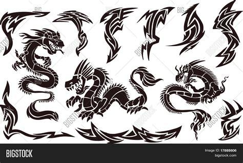 vector illustration iconic dragons vector amp photo bigstock