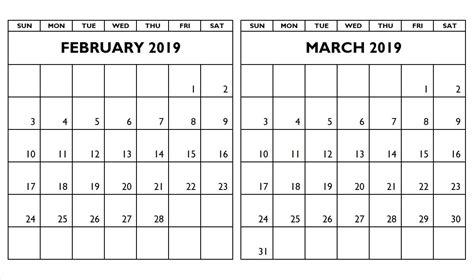 month calendar february  march  calendar printablecalendar february  march