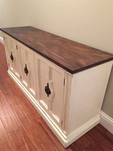 White Buffet And Hutch Furniture Refinished Sideboard Buffet