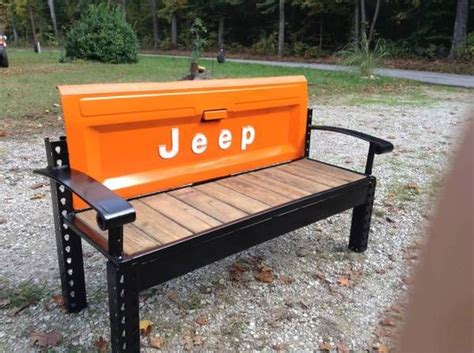 tailgate bench jeep tailgate bench 550 cool bench home and garden pinterest