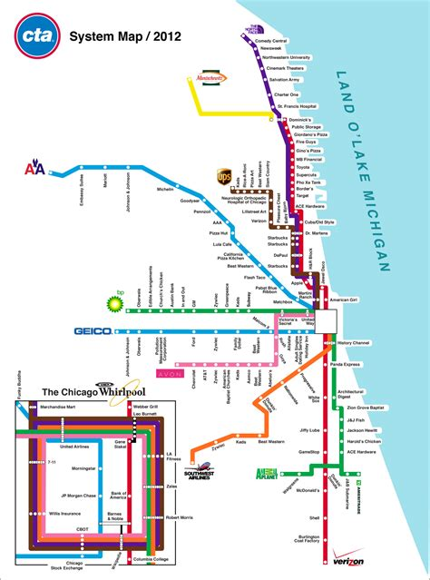 chicago map cta cta el map quotes