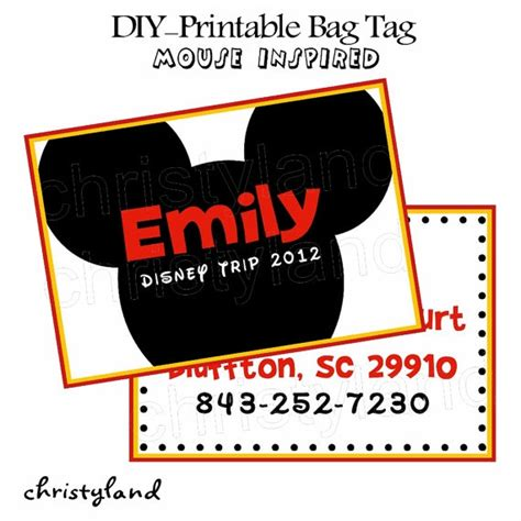 printable luggage tags disney 5 best images of disney printable luggage tags free