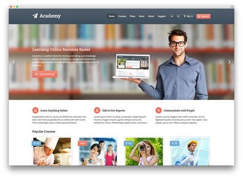 wordpress themes english education wordpress theme for online courses 2018 mageewp