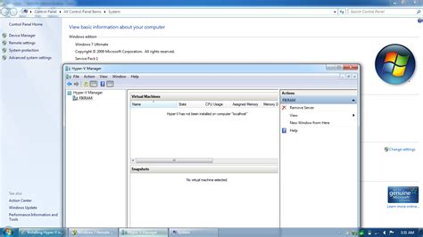 hyper v console windows 7 installing hyper v on windows 7