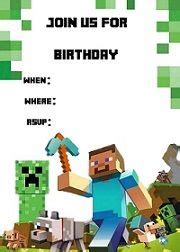 minecraft invitation template free minecraft birthday ideas backdrops squares and