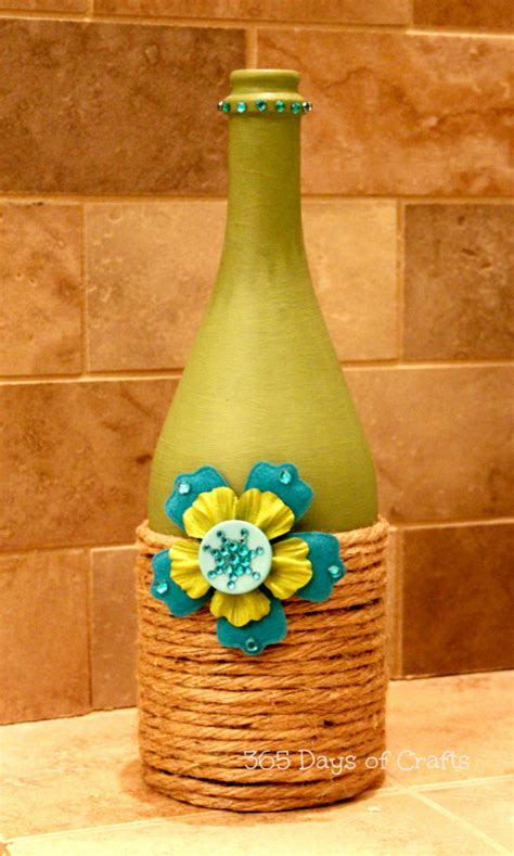 wine bottle crafts upcycled wine bottle home decor national craft month