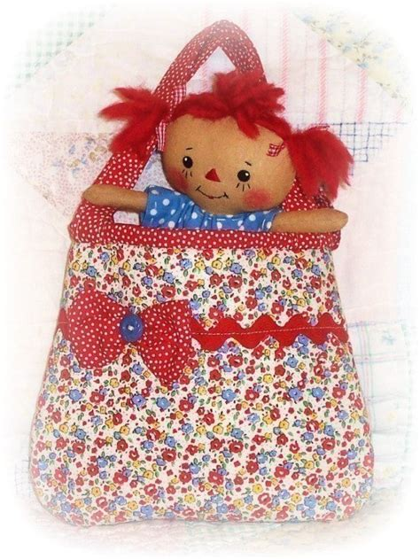 doll tote bag pattern small tiny rag doll pattern small purse tote by ohsewdollin
