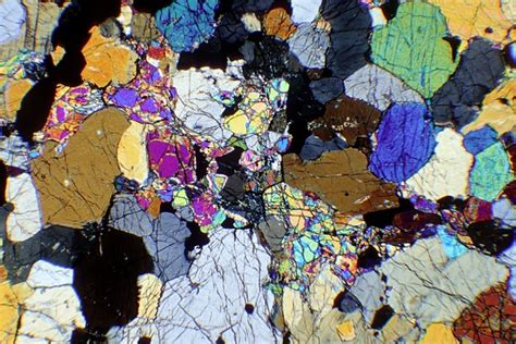 mineral identification thin section rocks of nw scotland rock sle images