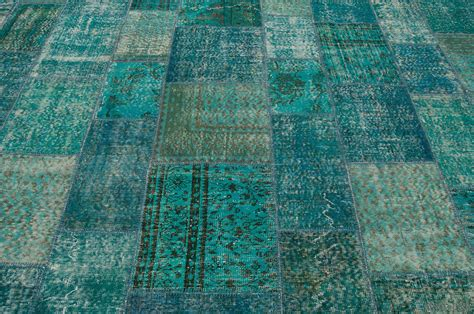 green blue rug green blue overdyed patchwork rug