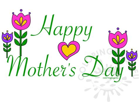 mothers day clipart happy mother s day card clipart coloring page