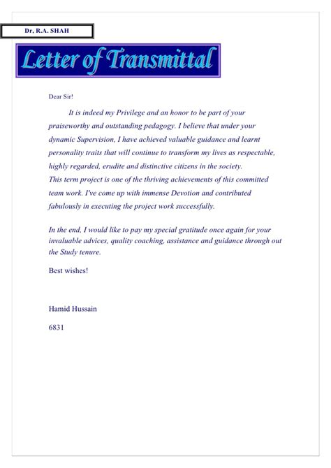 bunch ideas of letter of transmittal brilliant letter of transmittal