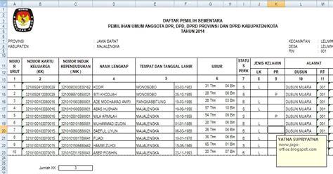 300 rumus excel rumus menghitung jumlah kk yang sama pada pemilu 2014