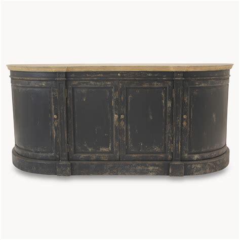 Distressed Black Sideboard distressed black large sideboard furniture la maison