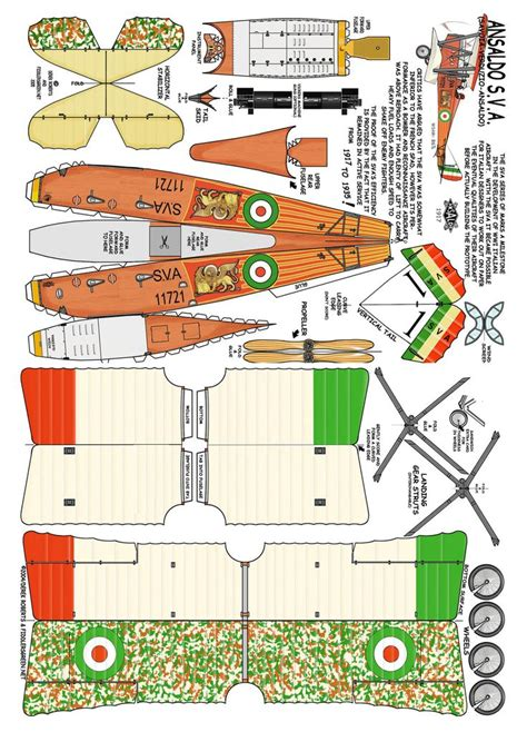 paper model craft ansaldo s v a wwi bomber detail http www