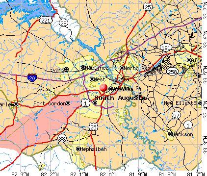 map of augusta ga and surrounding cities | afputra.com