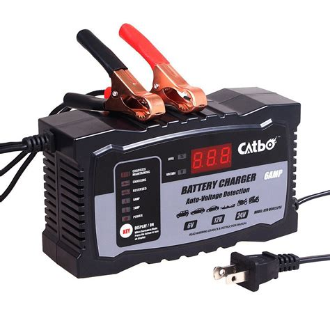 Charger 24v Automatic catbo 6v 12v 24v automatic smart battery charger maintainer for lead acid batteries car