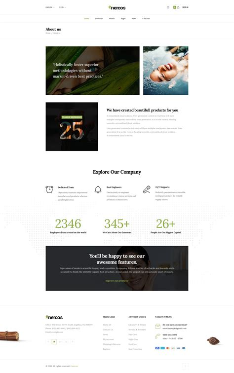 Enercos Single Product Ecommerce Html5 Template By Fuznet Themeforest Single Product Ecommerce Website Template