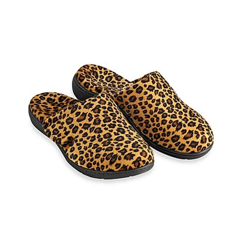 shower shoes bed bath and beyond orthaheel 174 gemma women s leopard slippers bed bath beyond