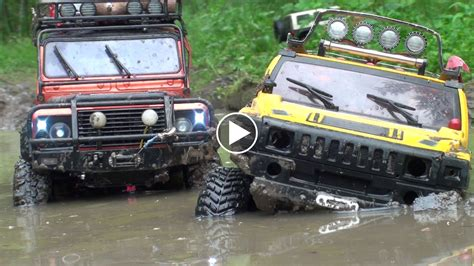 defender jeep 2016 watch as the rc hummer h2 land rover defender and jeep