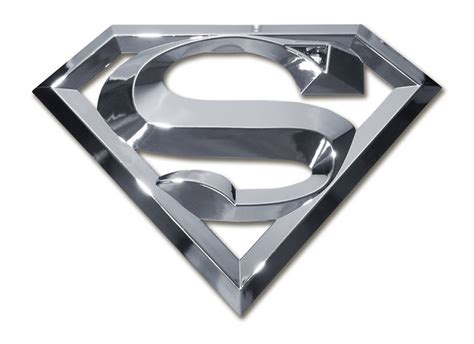 Emblem Superman Chrome superman chrome emblem elektroplate