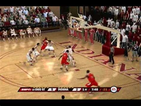 ncaa basketball 10 ps3 roster ncaa basketball 10 gameplay ps3 ohio state at indiana